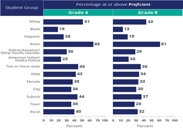 Student Group Proficiency Chart